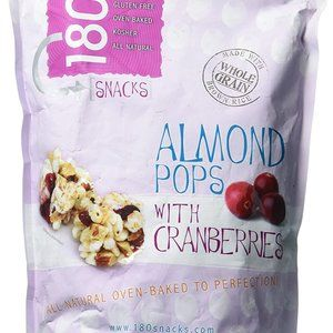 180 Snacks Almond Pops With Cranberries 15 oz